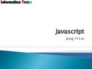 Javascript Jung Yi Lin Javascript var elemntdocument forms0
