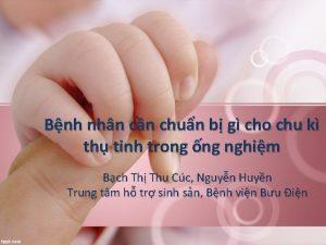 Bnh nhn cn chun b g cho chu