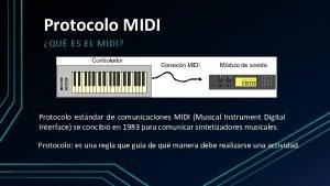 Protocolo MIDI QU ES EL MIDI Protocolo estndar