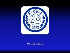 FGI 2011 2020 Forus og Gausel Idrettslag IDRETT