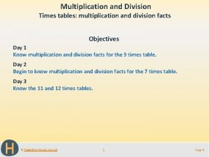 Multiplication and Division Times tables multiplication and division