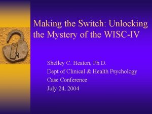 Making the Switch Unlocking the Mystery of the