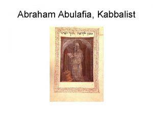 Abraham Abulafia Kabbalist Abraham Abulafia ber den Messiah