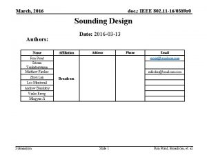 March 2016 doc IEEE 802 11 160389 r