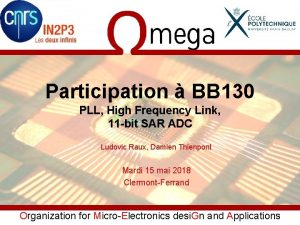 Participation BB 130 PLL High Frequency Link 11