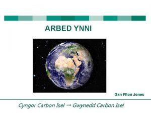 ARBED YNNI Gan Ffion Jones Cyngor Carbon Isel