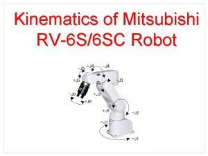 Kinematics of Mitsubishi RV6 S6 SC Robot Kinematic
