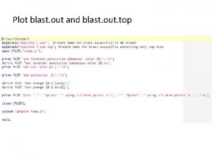 Plot blast out and blast out top Blast