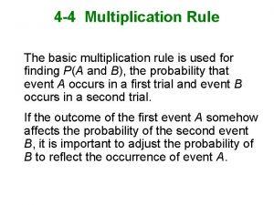 4 4 Multiplication Rule The basic multiplication rule