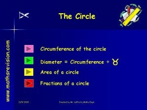www mathsrevision com The Circle Circumference of the