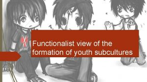 Functionalist view of the formation of youth subcultures