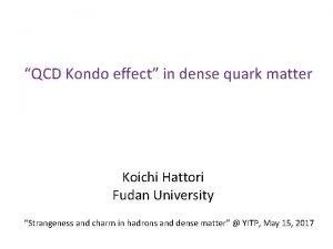 QCD Kondo effect in dense quark matter Koichi