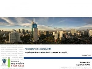 Invest in remarkable indonesia Invest in remarkable indonesia