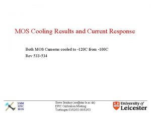 MOS Cooling Results and Current Response Both MOS