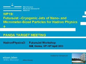 WP 19 Future Jet Cryogenic Jets of Nano