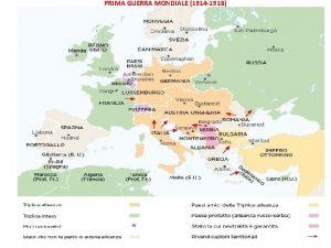 PRIMA GUERRA MONDIALE 1914 1918 UNA TRAGEDIA EUROPEA