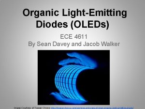 Organic LightEmitting Diodes OLEDs ECE 4611 By Sean