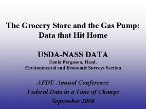 The Grocery Store and the Gas Pump Data