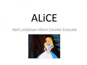 ALi CE Alert Lockdown Inform Counter Evacuate Schools