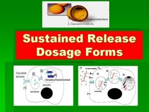 Sustained Release Dosage Forms The Sustained Release Concept