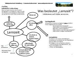Waldparkschule Heidelberg Gemeinschaftsschule www waldparkschule de Coaching Individuelle