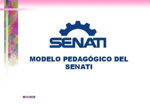 MODELO PEDAGGICO DEL SENATI 05112020 MODELO PEDAGGICO Modelo