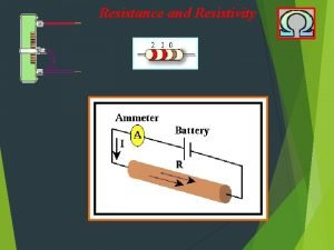Resistance and Resistivity Resistance and Resistivity what is
