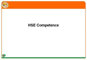 HSE Competence PDO Expectations Challenges 1 2 3