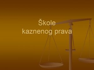 kole kaznenog prava KOLE KP KLASINA POZITIVISTIKA SOCIOLOKA