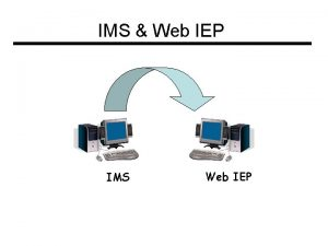 IMS Web IEP IMS Web IEP Security Issues