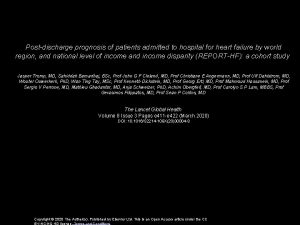 Postdischarge prognosis of patients admitted to hospital for