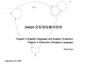 DS 020 Chapter 3 Regular Languages and Regular