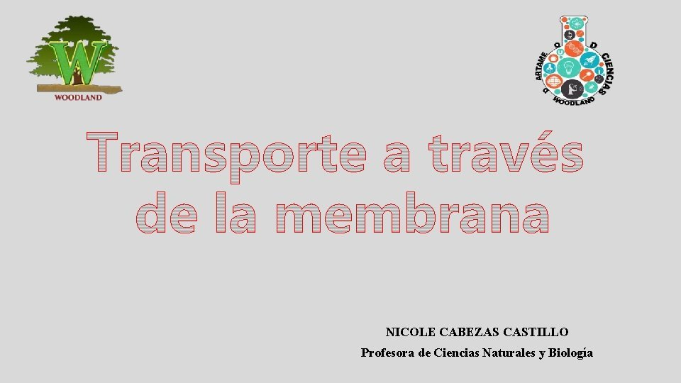 NICOLE CABEZAS CASTILLO Profesora de Ciencias Naturales y