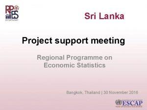 Sri Lanka Project support meeting Regional Programme on