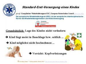 StandardErstVersorgung eines Kindes gem Europischer Wiederbelebungsrat ERC European