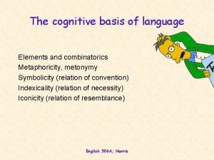 The cognitive basis of language Elements and combinatorics