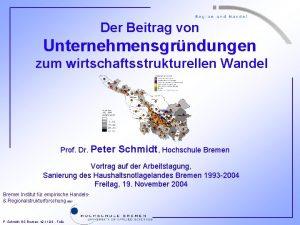 Der Beitrag von Unternehmensgrndungen zum wirtschaftsstrukturellen Wandel Prof
