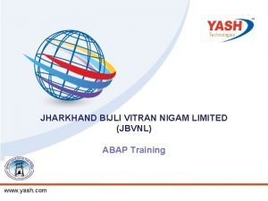 JHARKHAND BIJLI VITRAN NIGAM LIMITED JBVNL ABAP Training