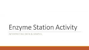 Enzyme Station Activity INTERPRETING DATA GRAPHS Station 1
