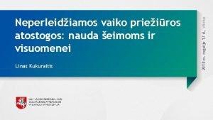 Linas Kukuraitis 2018 m rugsjo 17 d Vilnius