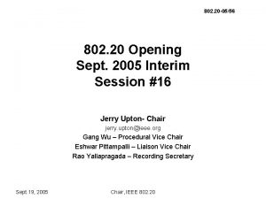 802 20 0556 802 20 Opening Sept 2005