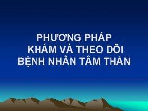 PHNG PHP KHM V THEO DI BNH NH