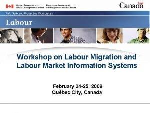Workshop on Labour Migration and Labour Market Information