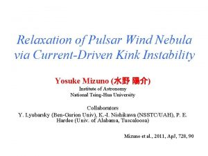 Relaxation of Pulsar Wind Nebula via CurrentDriven Kink