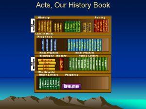 Acts Our History Book Acts Our History Book