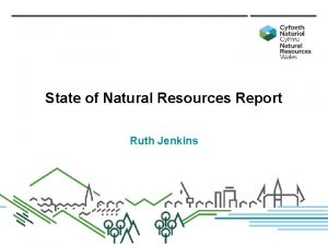 State of Natural Resources Report Ruth Jenkins Sustainable