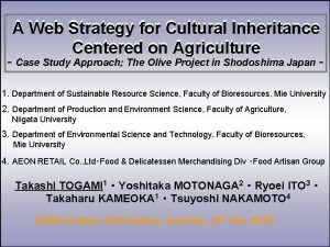 A Web Strategy for Cultural Inheritance Centered on