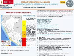MDULO DE MONITOREO Y ANLISIS Distribucin Casa de