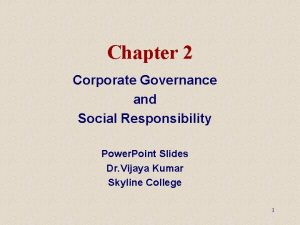 Chapter 2 Corporate Governance and Social Responsibility Power