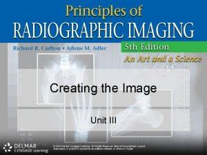 Creating the Image Unit III 2013 Delmar Cengage
